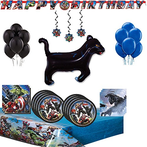 Black Panther Party Supplies and Room Decoration Bundle