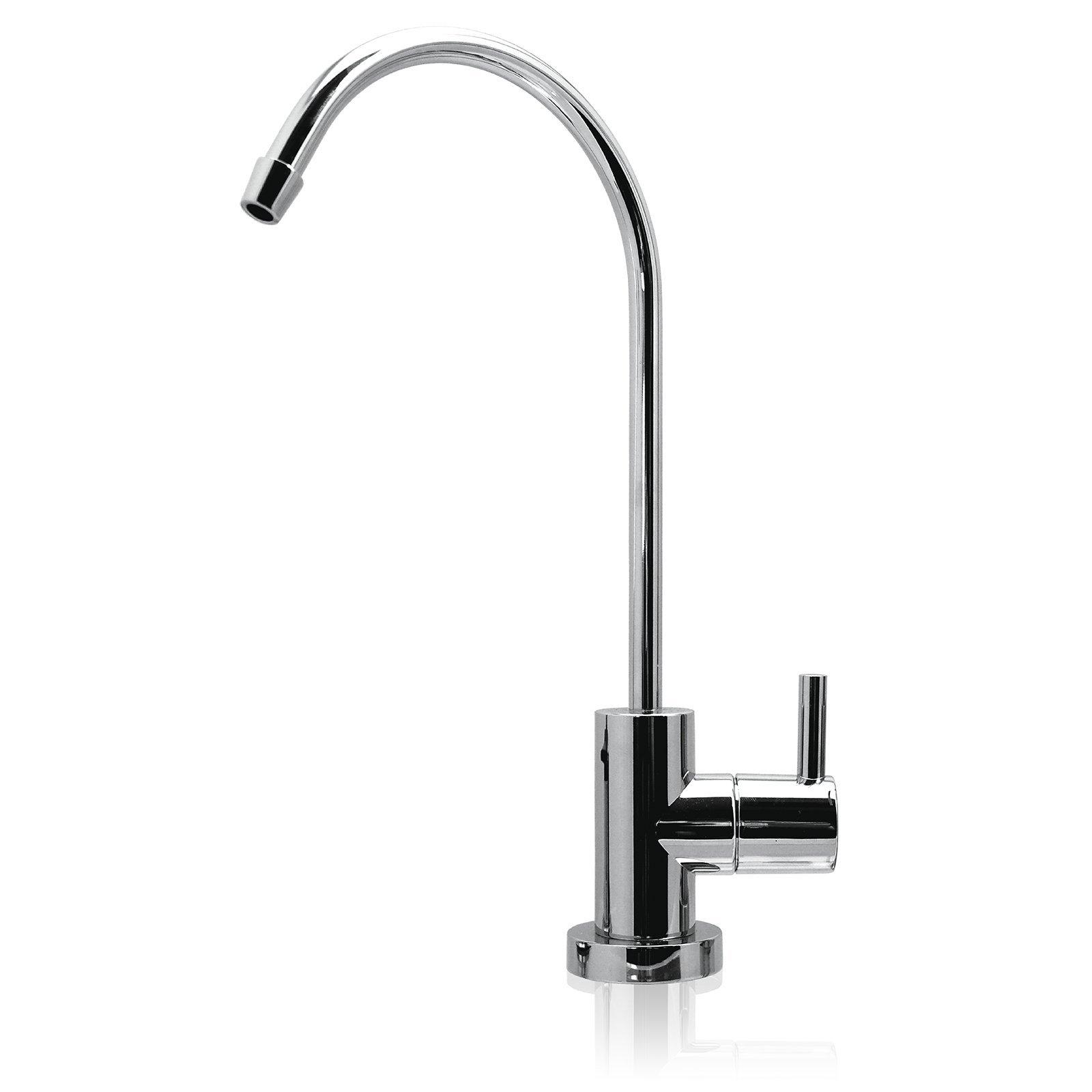 MODERN Ceramic Disc Designer Faucet Coke Shaped Non-Air Gap Faucet, CHROME