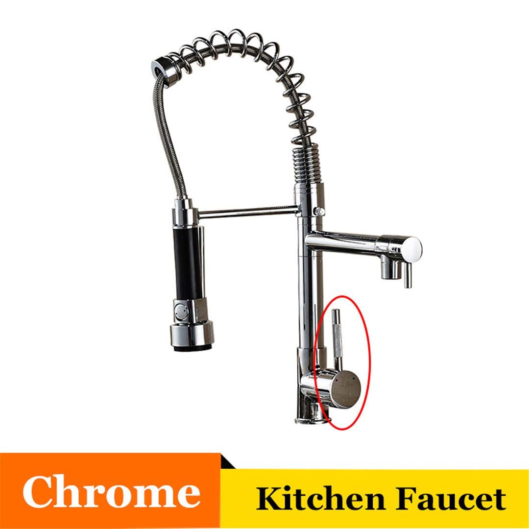 Kitchen Faucet Chrome/Brushed Nickle/Brass Pull Out Head Deck Mount Vessel Sink Mixer Tap Cold Hot A