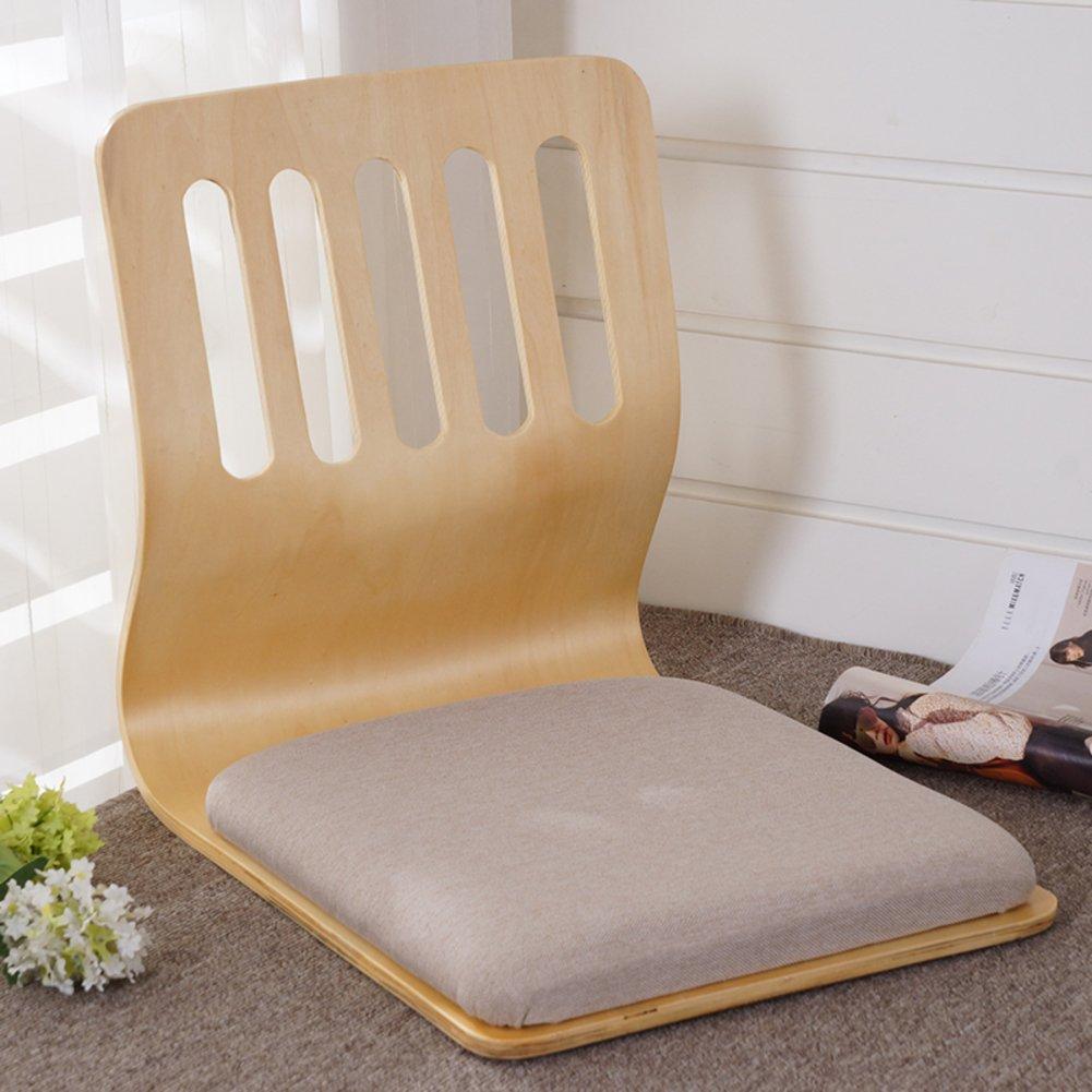 QIQ Tatami Room Chair,Bed Dormitory Back Chair Japanese Legless Chair Bay Window backrest Chair Lazy Chair Cushion-K by QIQ
