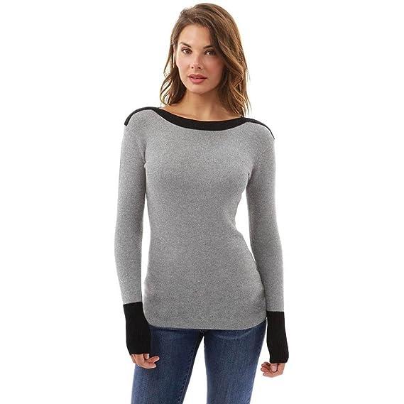 Cinnamou Suéteres del suéter de Las Mujeres Franela, señoras de la Manera Sudaderas Tops Blusa