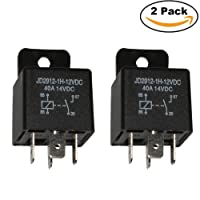 Ehdis® Car Relay 4 Pin 12v 40amp Spst Model No.: JD2912-1H-12VDC 40A 14VDC, Auto Switches & Starters, 2 Pack
