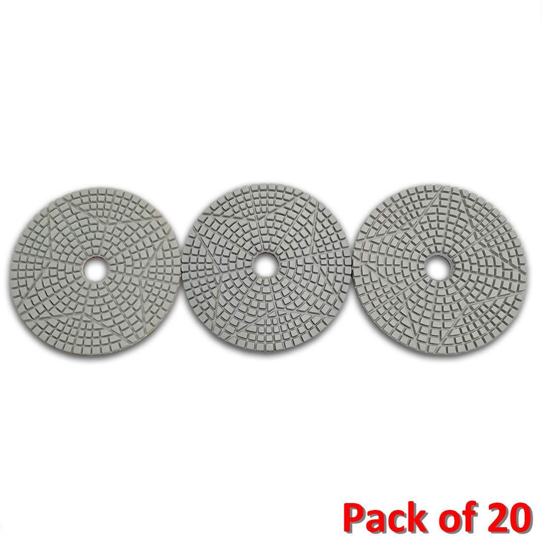 SHDIATOOL 3 Step Diamond Polishing Pads 60PCS Dia 4 inch Premium Resin Bond Sanding Discs for Stone Marble