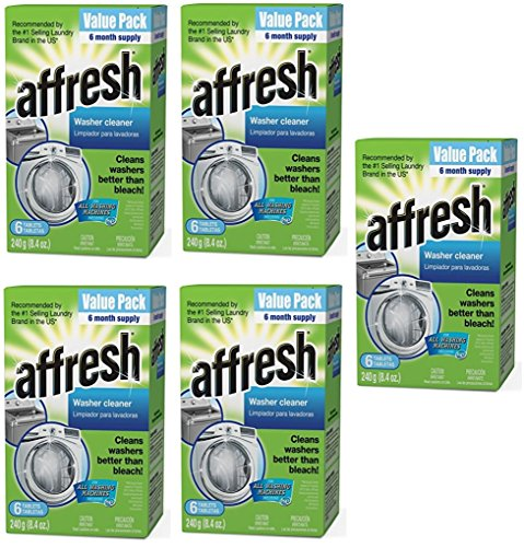 Affresh Washer Machine Cleaner, 5 Pack (6-Tablets, 8.4 oz) by Affresh