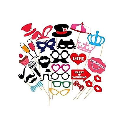 Amazon.com: Juego de 31 accesorios de pozo para foto, gafas ...