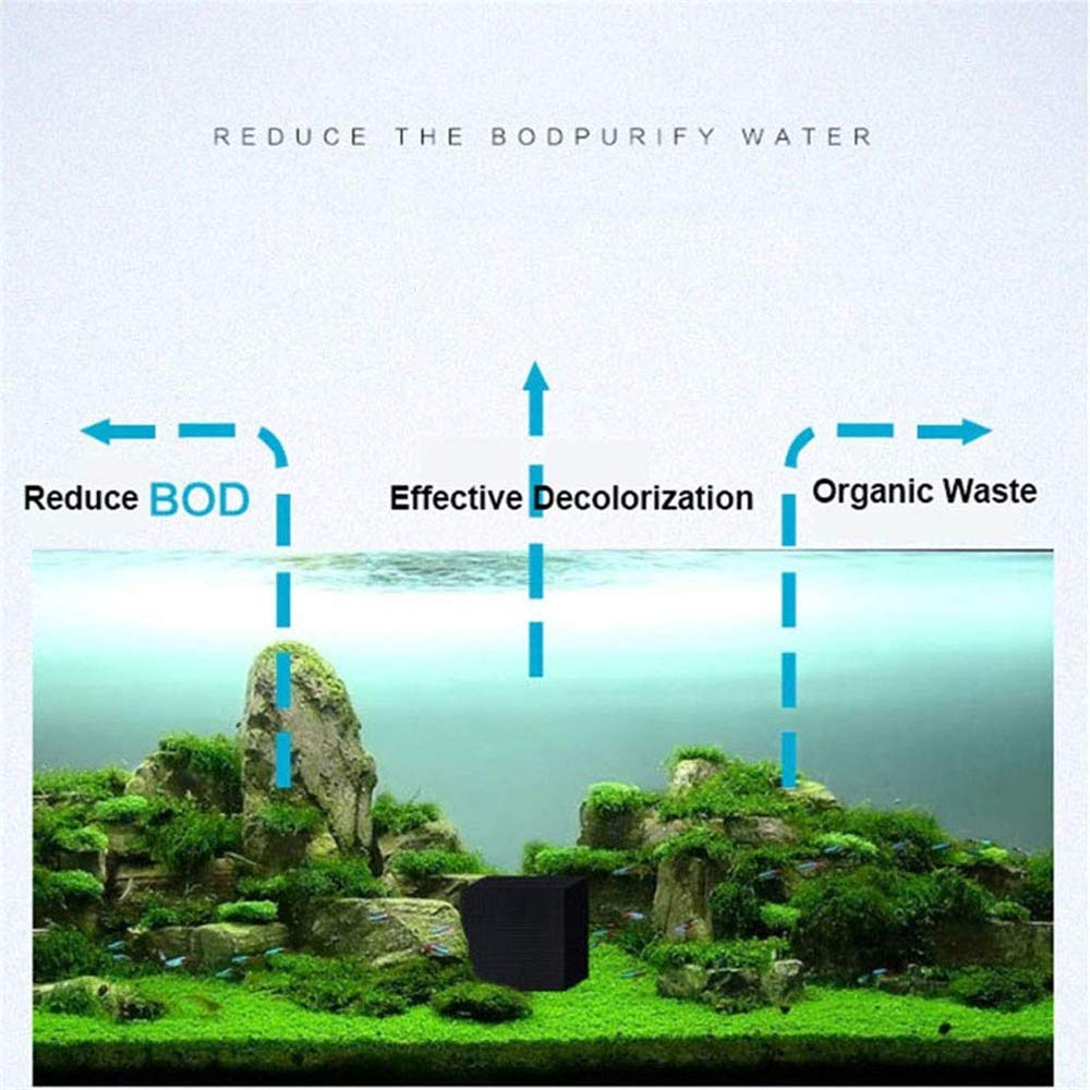 2 PCS DZANS Eco-Aquarium Water Purifier Cube Fish Tank Filtro de Agua de Carb/ón Activado Filtro