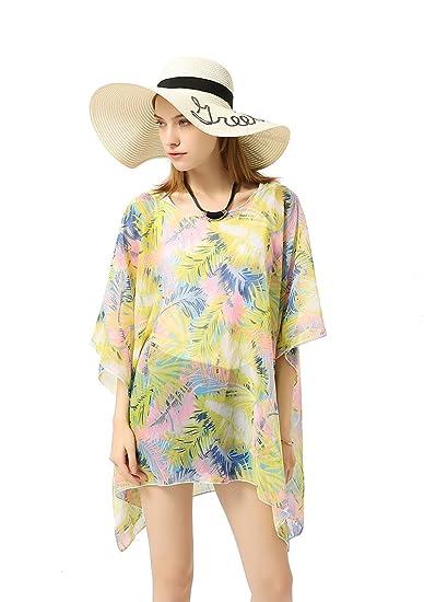 18512b858 Mujer Niña Multicolor Boho Camisolas Bufanda Wrap Playa Natación Vacaciones