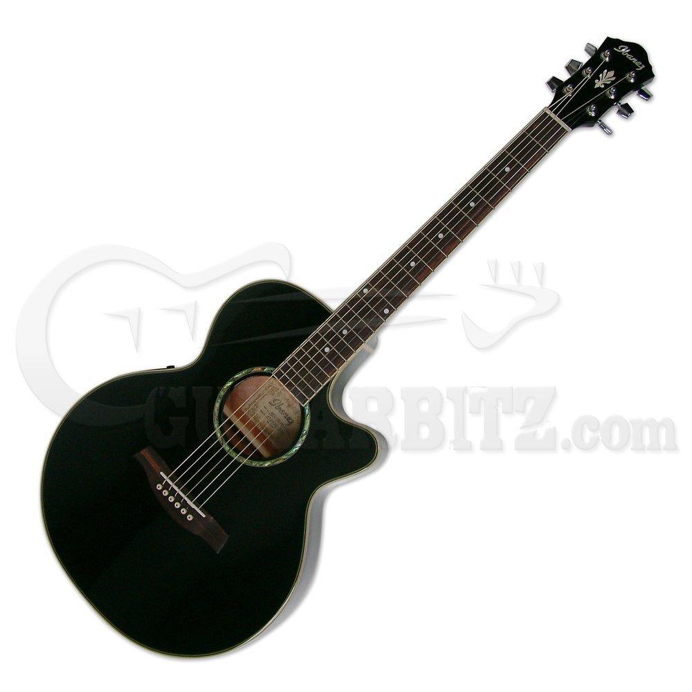 Ibanez アイバニーズ AEG10Ⅱ BK エレアコ B00BLOJQOU Black Black