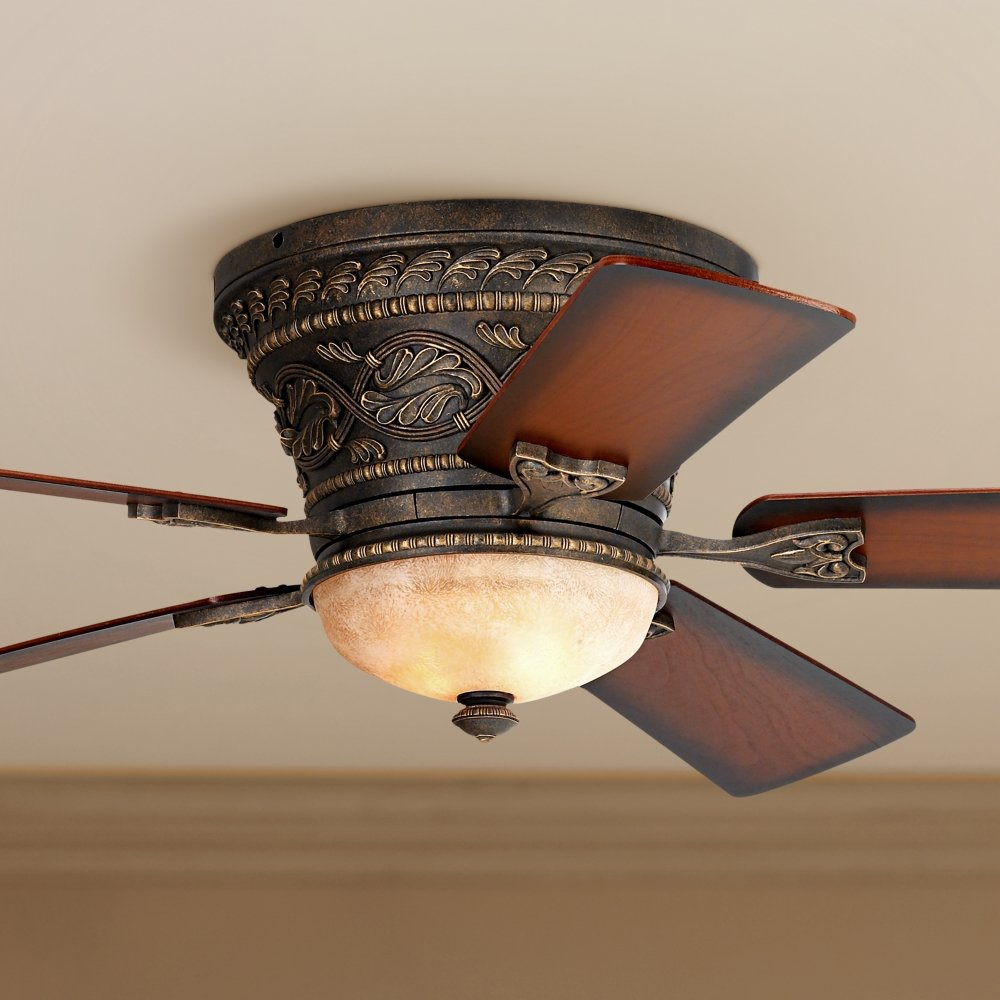 52 Casa Vieja Ancestry Hugger Ceiling Fan Light Combo Power Enters At Switch Box One Wall