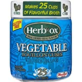 Herb-Ox Vegetable Bouillon Cubes, 3.33 Ounce