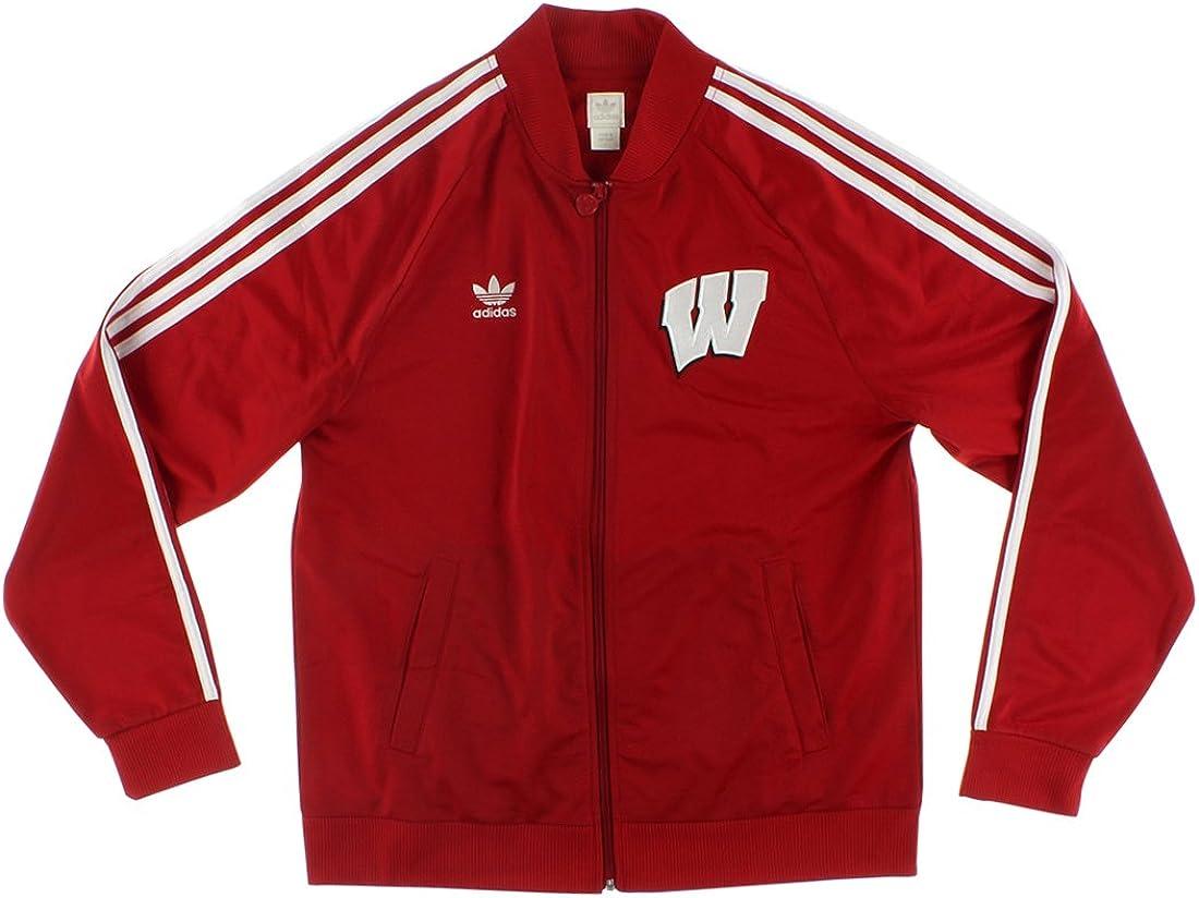 adidas para hombre Legacy Universidad de Wisconsin chaqueta de ...
