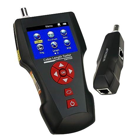 Cable Longitud Multi Función Ensayador para RJ45 RJ11 BNC Engatusar Teléfono Red Cable Ensayador Error Detector