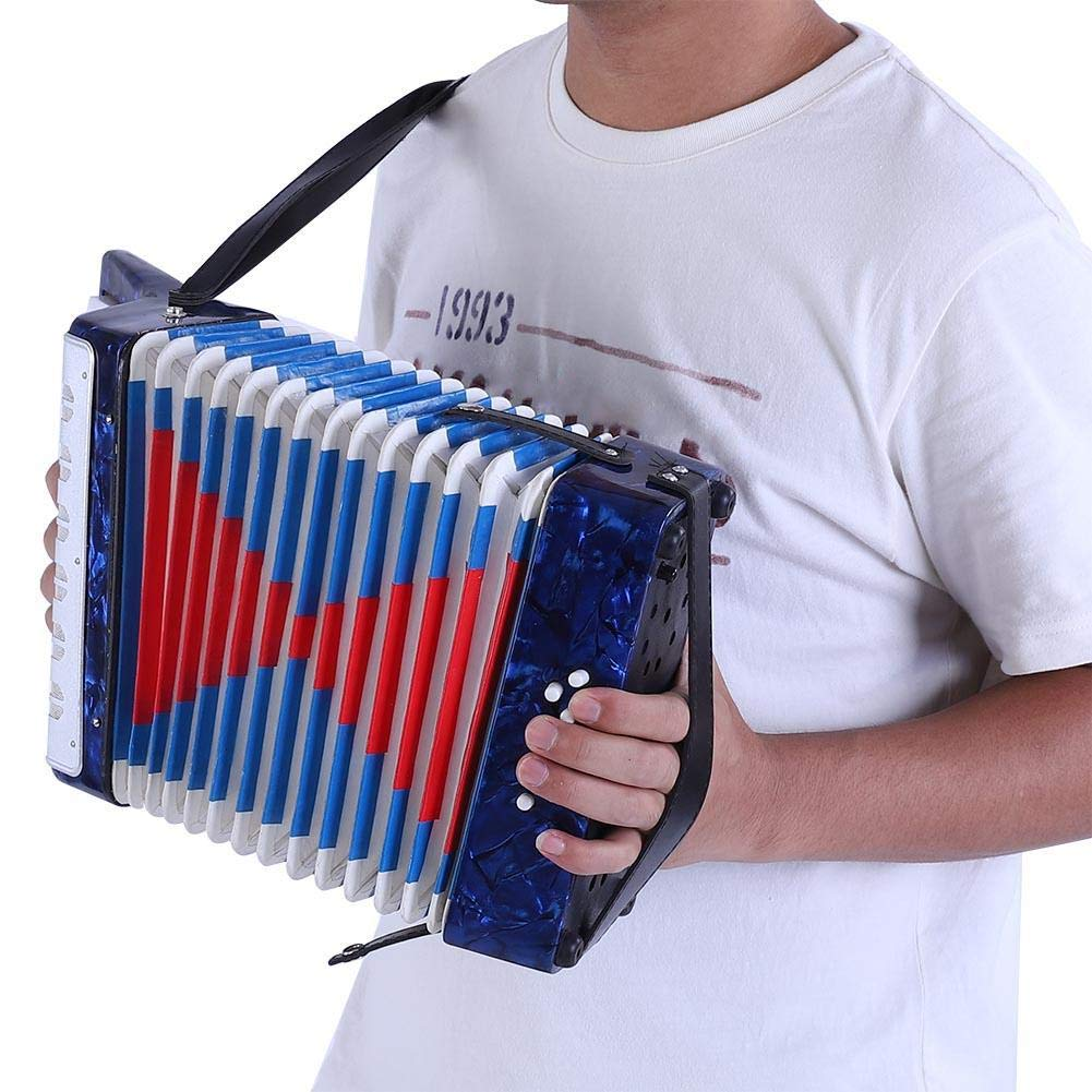 Children Accordion, Mini 17-Key 8 Bass Piano Accordion for Kids Children Amateur Beginner(Blue) by VGEBY (Image #6)