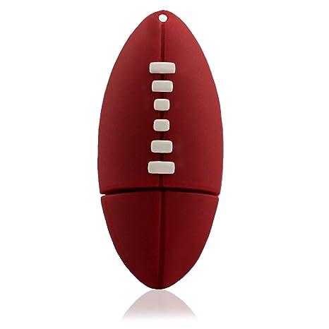 Tienda 818 no3090008 USB Stick Balón de Rugby Deportes 3D Rojo ...