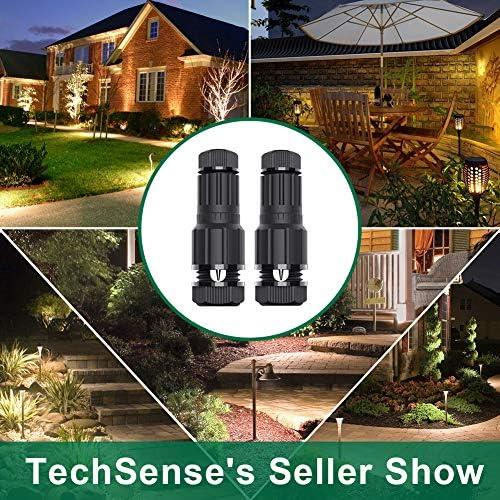 TechSense Low Voltage Wire Connectors 12-16 Gauge Low Voltage Landscape Connectors Work with Malibu Paradise Moonrays and More (32 Pcs)