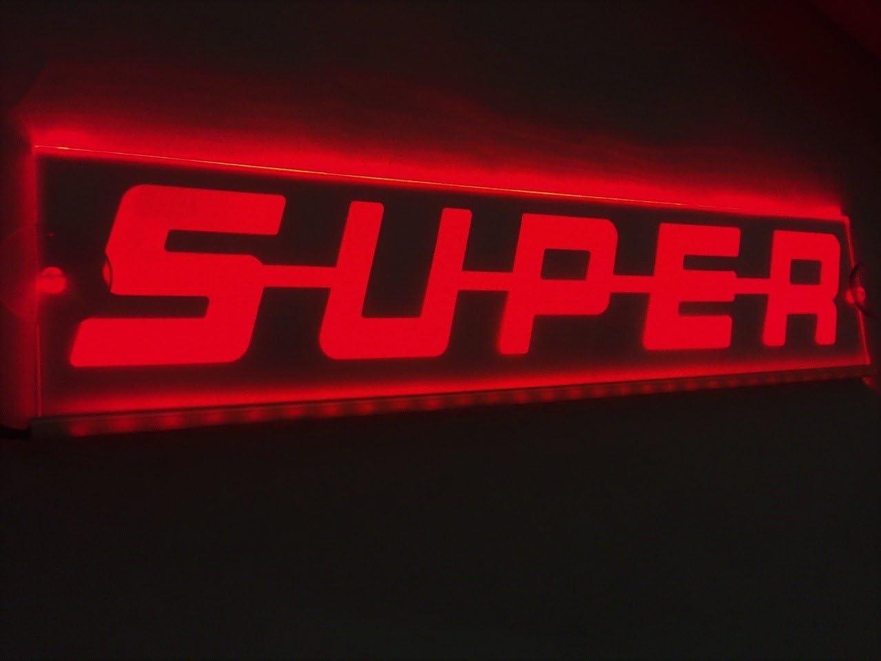 Placa LED iluminadora de 24 V roja Super se/ñal luz para Scania camiones cabina decoraci/ón interior 500 mm