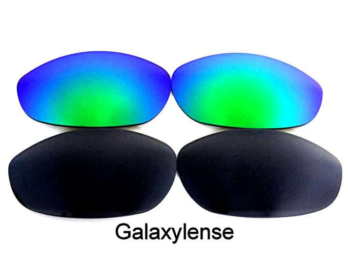de3872b3d8 Amazon.com  Galaxylense Replacement Lenses for Oakley Monster Dog  Black Green Color 2 Pairs