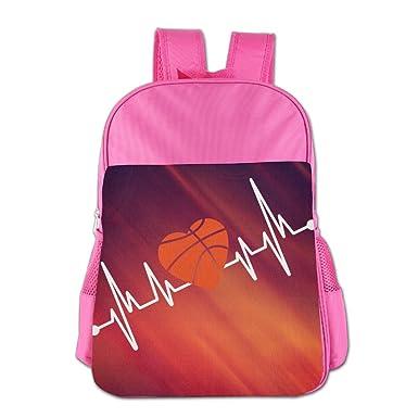 Basketball T-shirt Kids School Backpack Bag Pink 2d73b813c4b94
