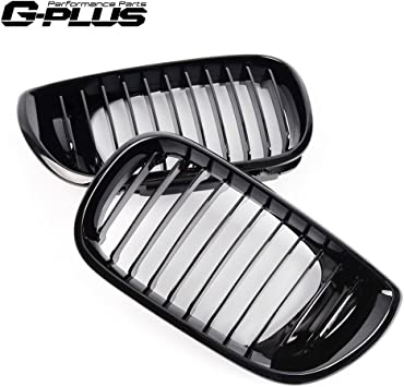 New M-Style Gloss Black Kidney Front Grille for BMW E46 3 Series 4 Door 02-05