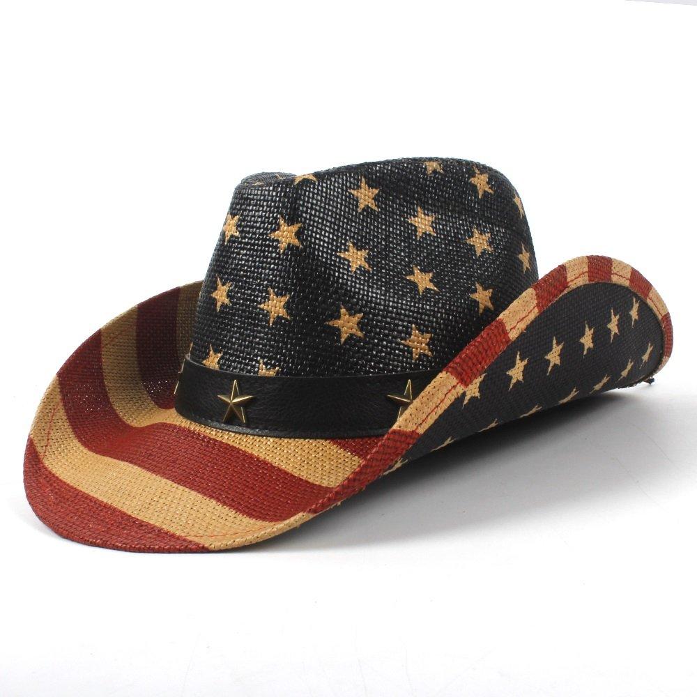 Hong Sombrero de Vaquero Occidental Jazz Church Godfather Sombrero Fedora Fedora Sombrero Cap  (Color : Natural, tamaño : 56-58CM) e17c70