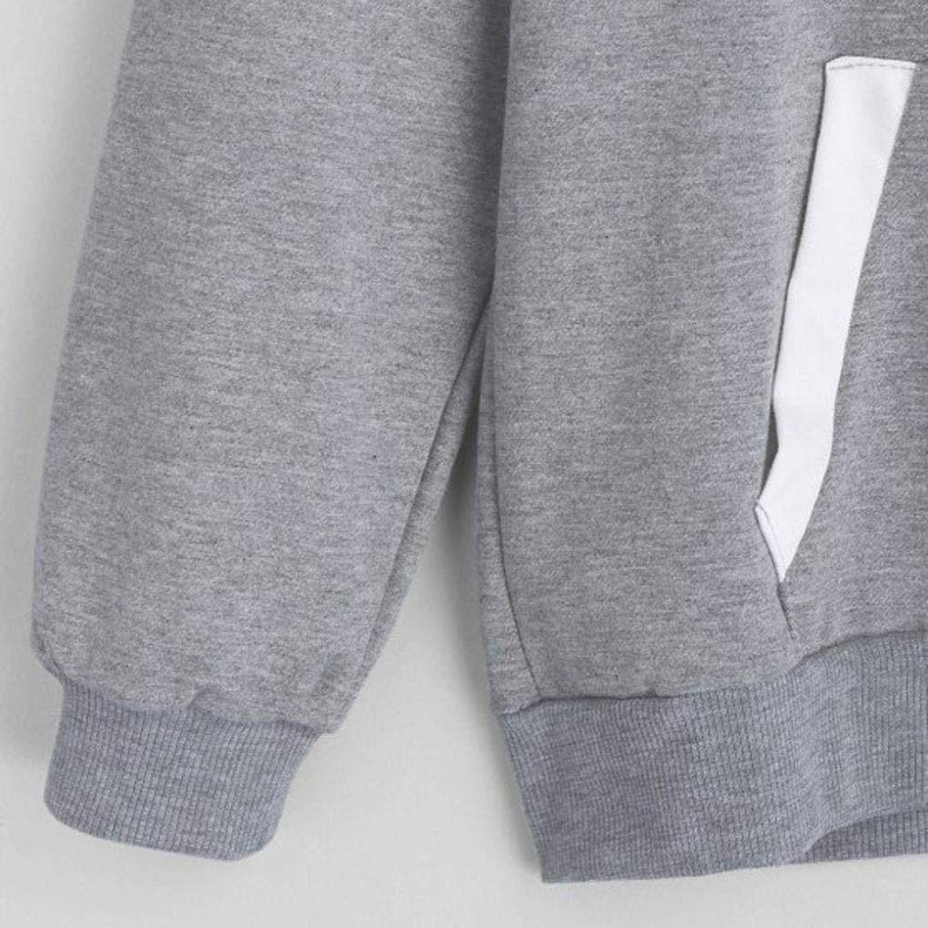 Kangma Womens Hoodie Sweatshirt Long Sleeve Jumper Hooded Pullover Tops Blouse