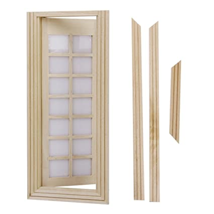 Genial Amazon.com: Dollhouse Miniature Wooden Door Furniture Model DIY 14 Squares  Unpainted: Toys U0026 Games
