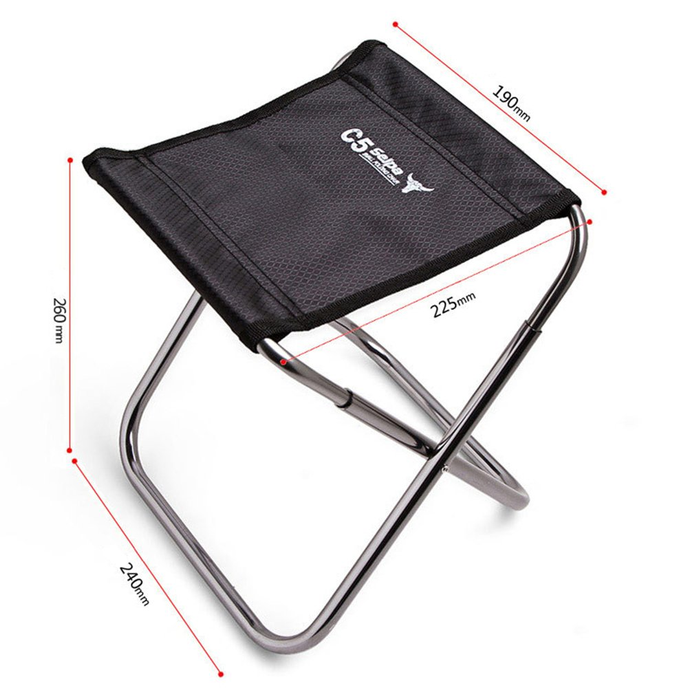 TOPCHANCES C5 Premium Lightweight Outdoor Fishing Chair Portable Folding Backpack Camping Oxford Cloth Foldable Picnic Fishing Chair with Carrying Bag by TOPCHANCES (Image #2)
