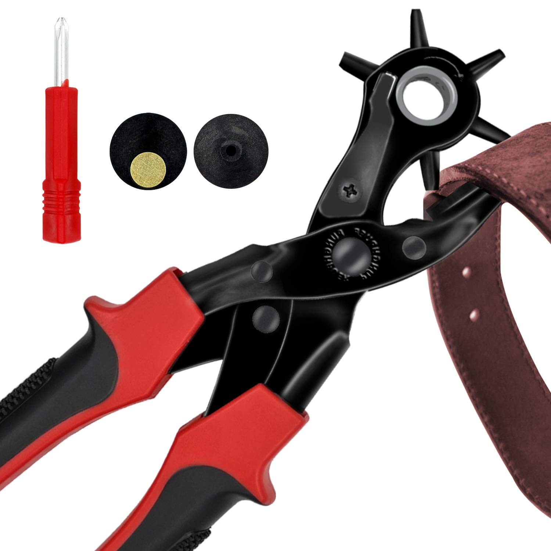 trou Perforateur/punch outil multifonctions de ceinture en cuir Punch two-shape trous, cercle ou Oblat forme ZDTech