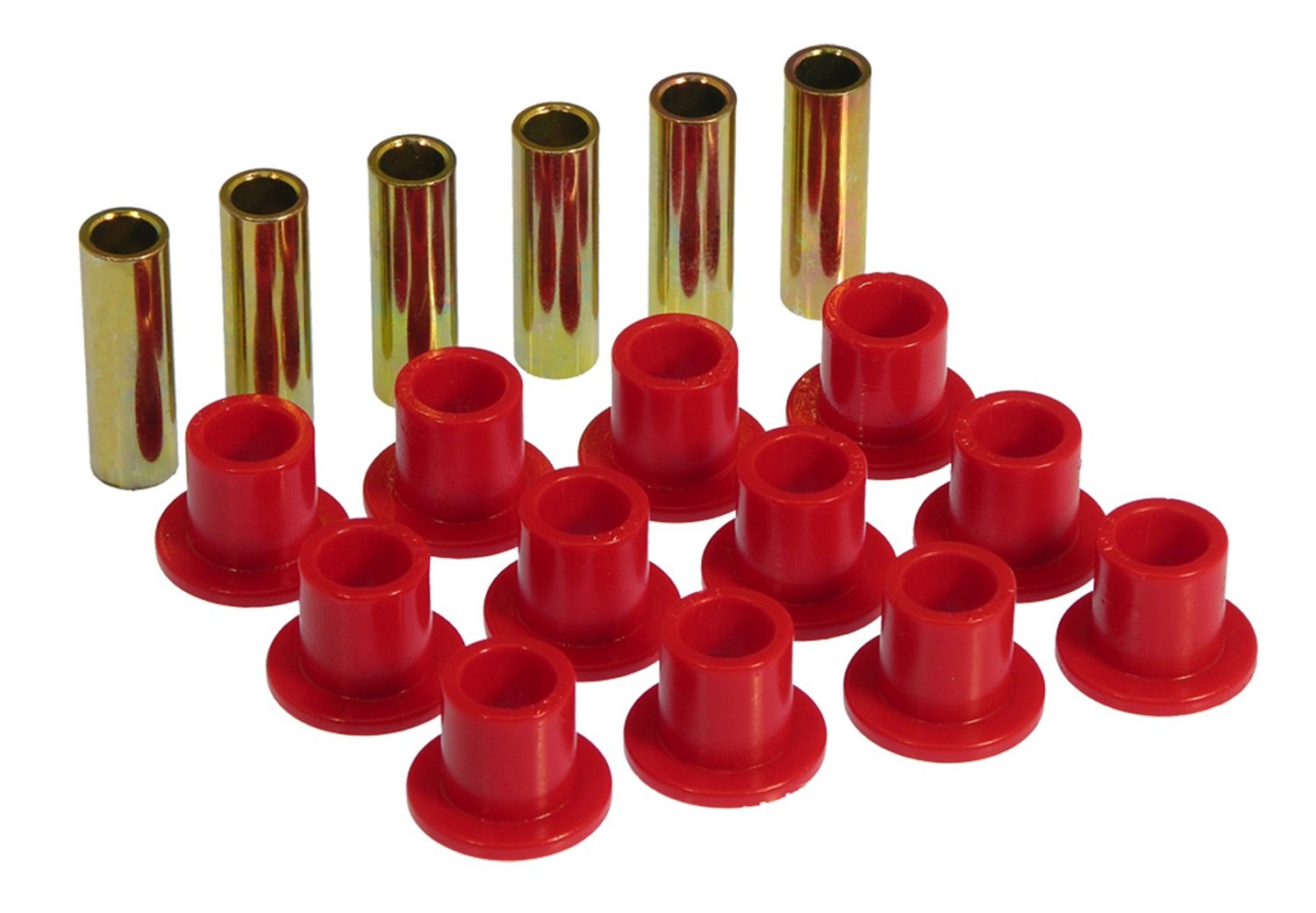 Prothane 9-1002 Red Front Spring Eye and Shackle Bushing Kit