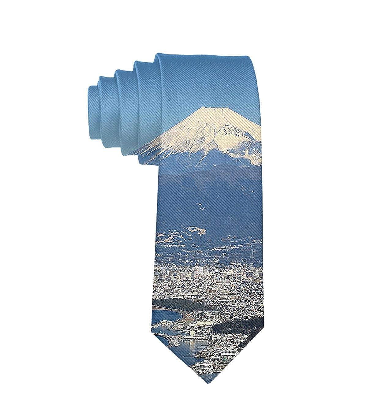 Classic Tie Fuji And Yokohama Japan Boy Casual School Necktie Bowtie