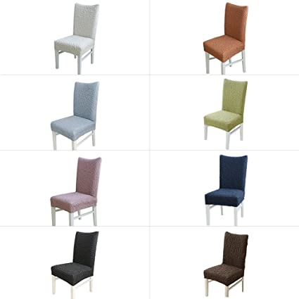 Longshow 4 Set Stretch Slipcovers Dining Room Chair Covers Multi Color Choice