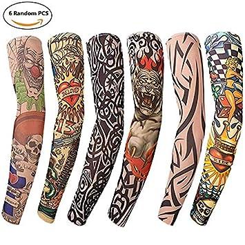 LiYou - 6 Mangas de Brazo para Tatuaje, Unisex, protección Solar ...