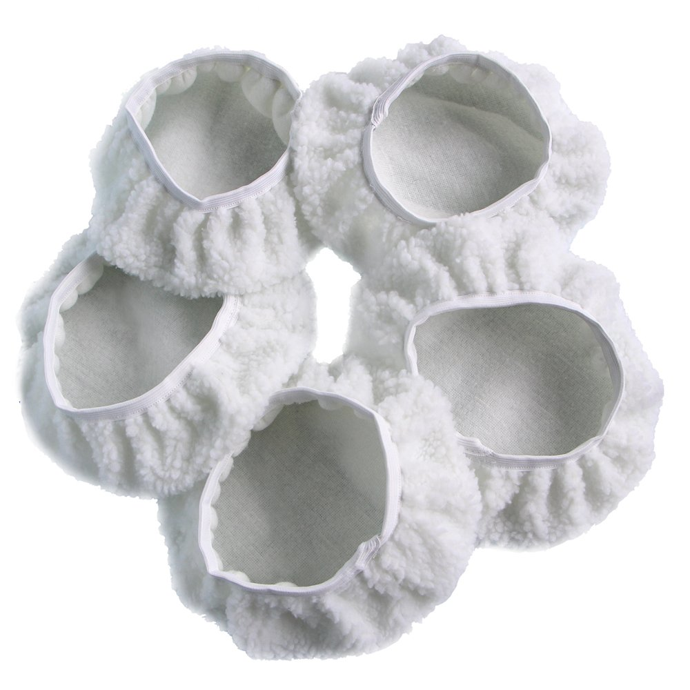 GCGZ Car Polisher Pad Bonnet Wool Polishing Bonnet Buffing Pad Cover For Car Polisher Pack of 5Pcs 5-6'' 7-8'' 9-10'' (9-10'')