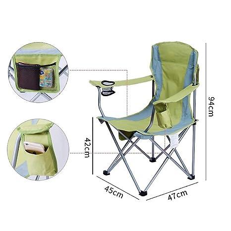ASDFGH Portátil Compacto Camping Silla Plegable con ...