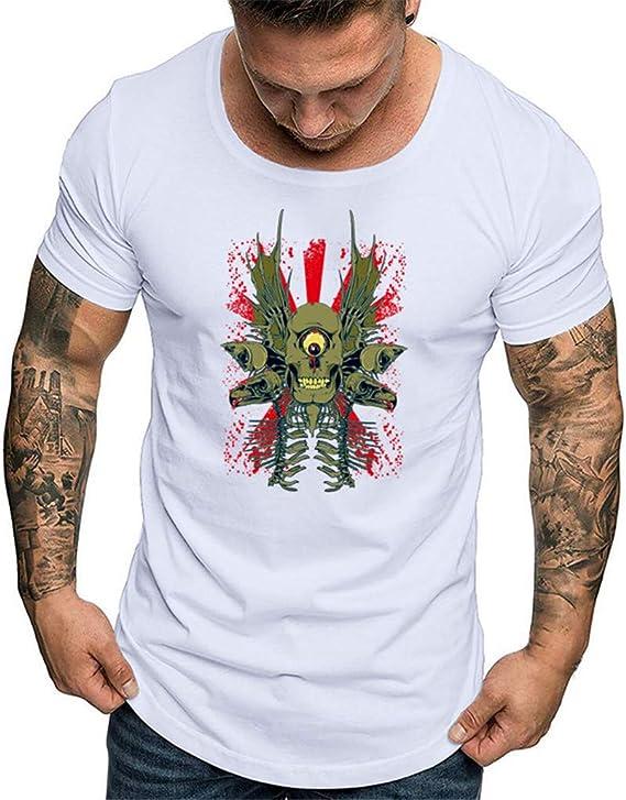 T-Shirt Manica Corta da Uomo,T-Shirt Stampata Moda Uomo Stile Semplice,Camicia a Maniche Corte da Uomo con Stampa t-Shirt