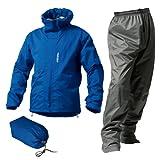 マックレインウェア(MAKKU RAIN WEAR)  DUAL ONE (デュアルワン) 耐久防水レインスーツ ウエア:マットブルー/パンツ:グレー LL AS-8000