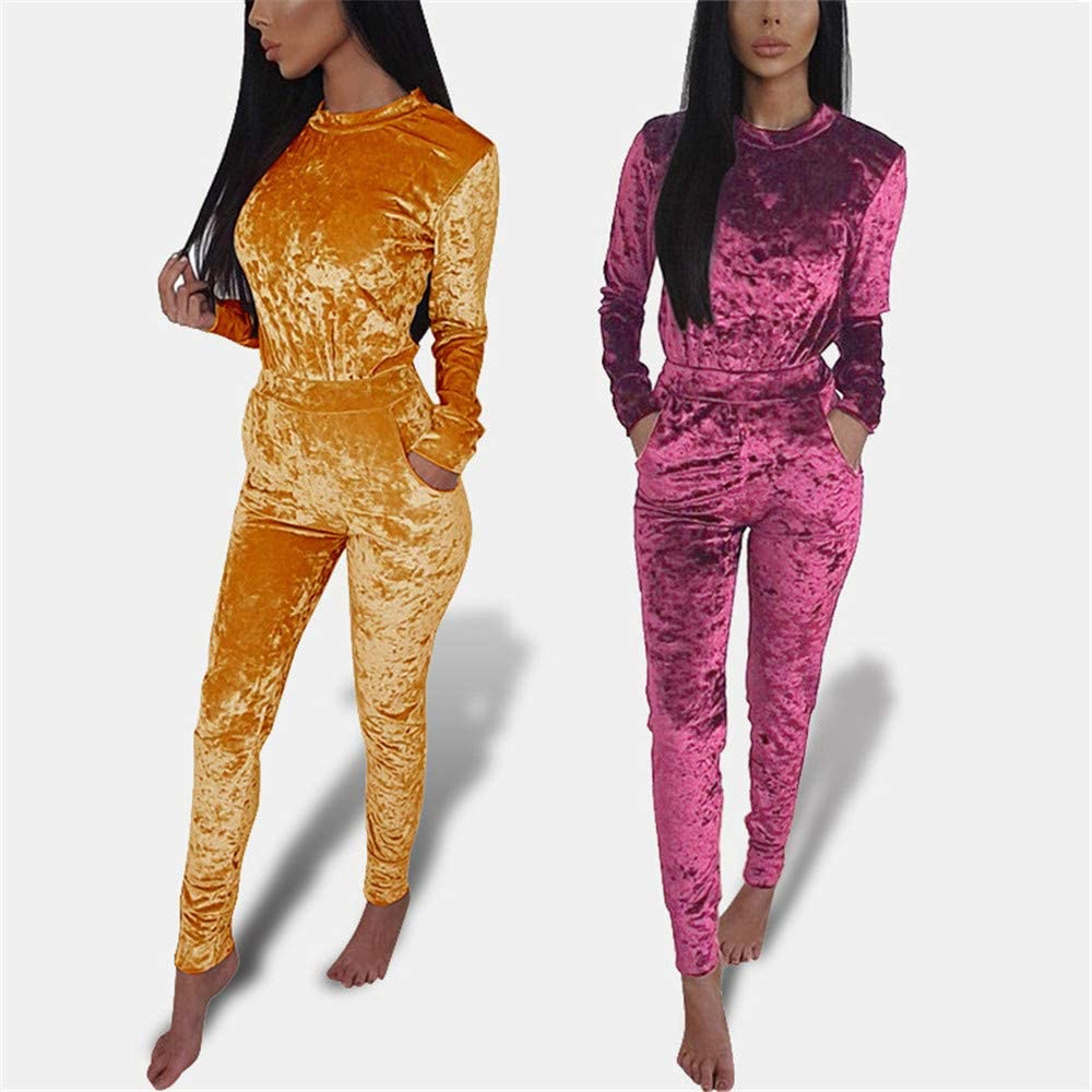 Casual Long Sleeve Color Jacket Bodycon Pants Set mamak Womens 2 Pieces Outfits