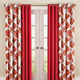 Best BrylaneHome Home Curtain Panels - BrylaneHome Bh Studio Canvas Poppy Print Grommet Panel Review