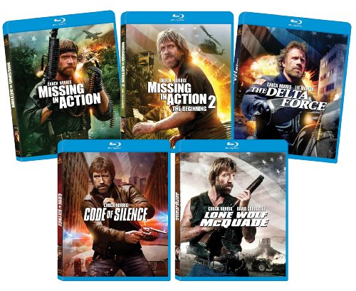 The Ultimate Chuck Norris Blu-ray Bundle (Missing in Action, Missing in Action 2, Delta Force, Lone Wolf McQuade, Code of Silence)