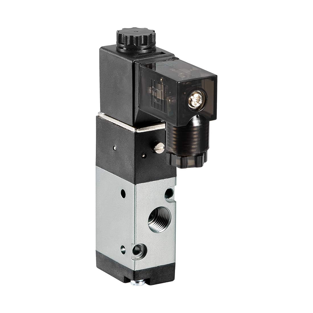 uxcell DC 12V 3 Way 2 Position 1//8 inches PT,Pneumatic Air Control NC Solenoid Valve,Internally Single Piloted Acting Type,3V110-06