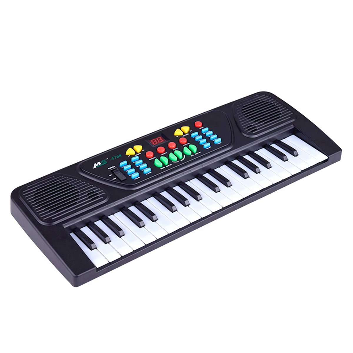 TOYMYTOY Electronic Organ Keyboard Piano Portable Multi-function Kid Electric Piano Organ Children Educational Toy 37 Keys (Black)