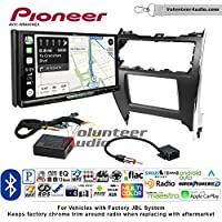 Volunteer Audio Pioneer AVIC-W8400NEX Double Din Radio Install Kit with Navigation, Apple CarPlay and Android Auto Fits 2012-2013 Toyota Camry with Amplified System
