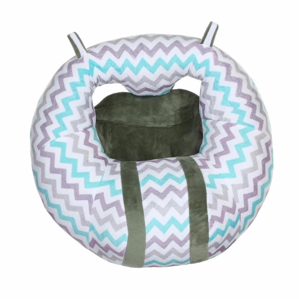 VENMO Baby Nursing Pillow U Shaped Cuddle Baby Seat Ring For Safe Sitting Up Dinning Chair Seat Cushion (Gray) VBPRHMAZUKAZIA4125
