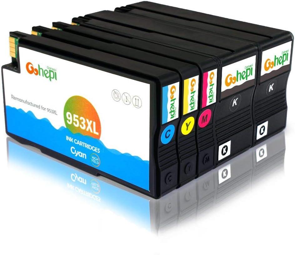 Gohepi - Cartuchos de tinta para HP 953XL, color 2 Black/Cyan ...