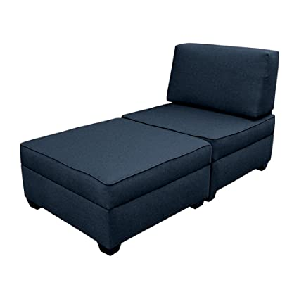 Duobed Storage Chaise Lounge/Bed   Blue