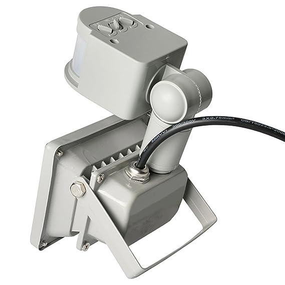 GLW 20W blanco frío PIR sensor de movimiento,LED Foco proyector Luz,Foco proyector con iluminación,impermeable IP65 blanco frío 6000K para exteriores con ...