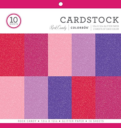 ColorBok 68261B Glitter Paper Pad Rock Candy, 12
