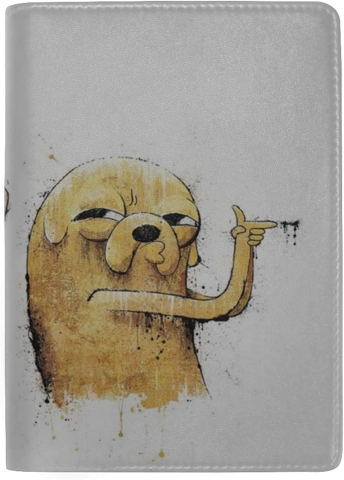 Adventure Time Finn And Jake Art Leather Passport Holder Cover Case Travel One Pocket