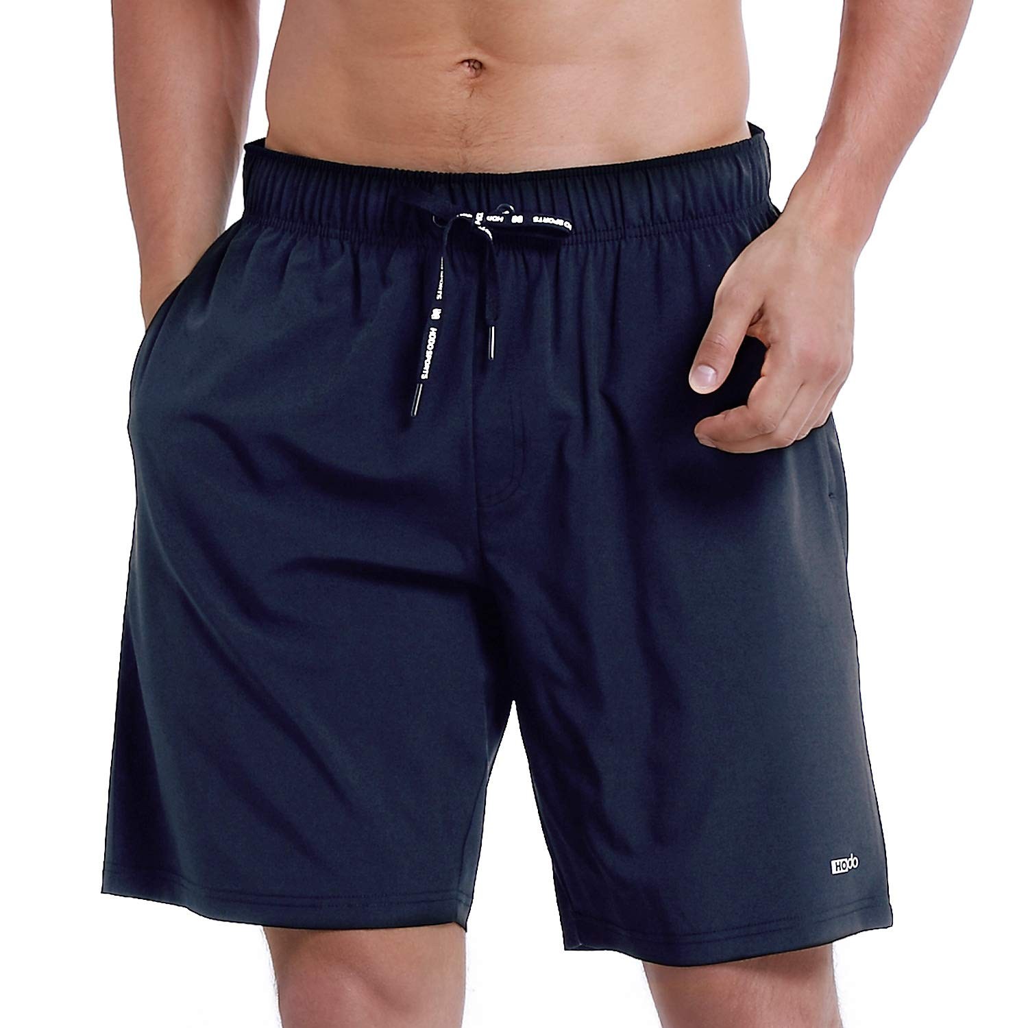 HOdo Mens Swim Trunks Quick Dry Beach Shorts Bathing Suits with Mesh Liner Navy-M by HOdo