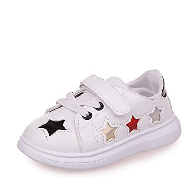 Sunbona Toddler Baby Boy's Girl's Fashion Star Sports Skate Sneakers Casual Flat Paillette Loafers Shoes